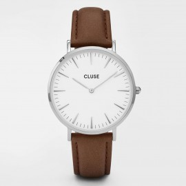 Cluse La Bohème Silver White / Brown