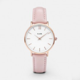 Cluse Minuit Rose Gold White / Pink