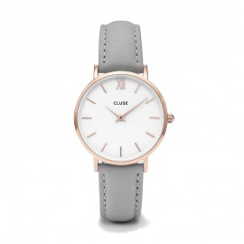 Cluse Minuit Rose Gold White / Grey
