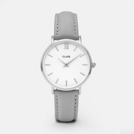 Cluse Minuit Silver  White / Grey