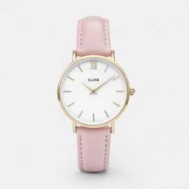 Cluse Minuit Gold  White / Pink