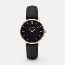 Cluse Minuit Rose Gold  Black / Black