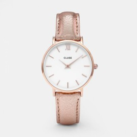 Cluse Minuit Rose Gold White / Rose Gold Metallic